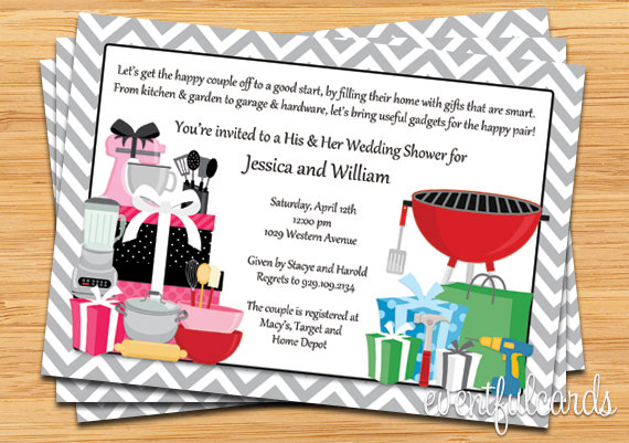 His and hers couple wedding shower invitation 2220025 weddbook his and hers couple wedding shower invitation filmwisefo