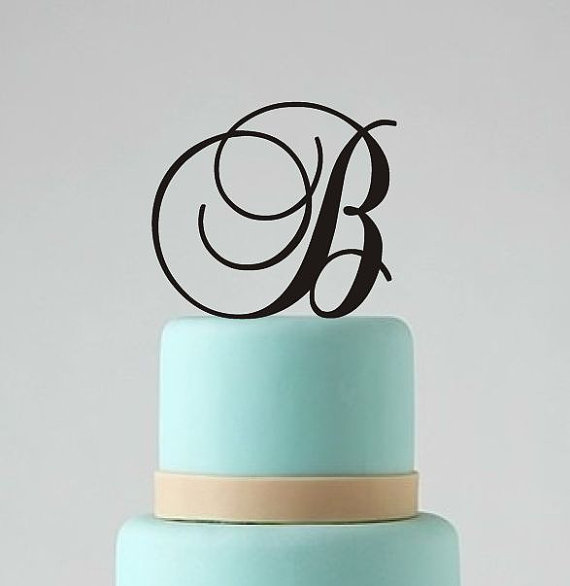 Monogram wedding cake topper custom personalized cake for Decoration 5 letters