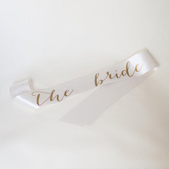 Mariage - The Bride Ivory Bachelorette Sash