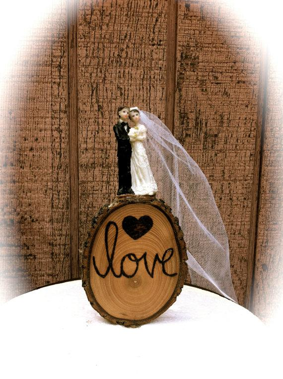 Rustic Wedding Cake Topper Vintage Bride Groom Wooden Toppers Country Fall Weddings 2220058
