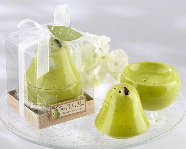Wedding - Ceramic Salt & Pepper Shaker Wedding Favor