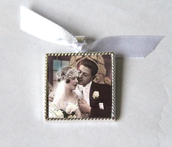 Mariage - Bridal Bouquet Charm, Bridesmaid Bouquet Charm, Wedding Bouquet Charm, wedding memorial bouquet charms, Bridal Charm Photo Memory Charm