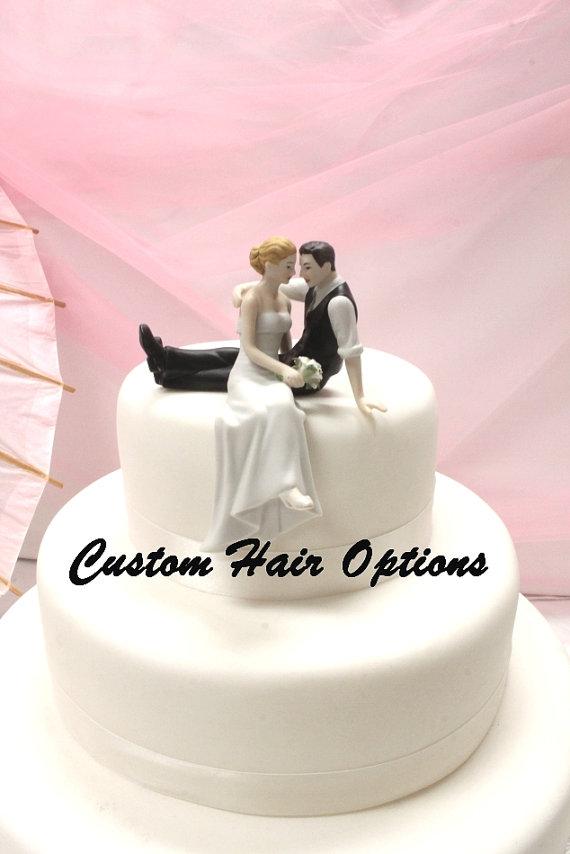 Свадьба - Personalized Wedding Cake Topper - Wedding Couple - Look of Love Wedding Cake Topper - Weddings - Cake Topper - Romantic Cake Topper