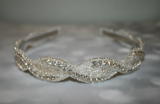 زفاف - Wedding Headband, Wedding, Rhinestone Headband, Wedding Hair Accessory, Bridal Accessories- BAYLEE