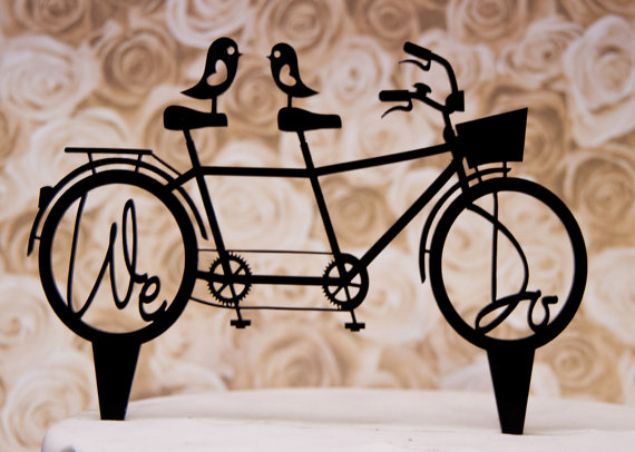 Wedding - Wedding Cake Topper We Do with Bicycle for Two