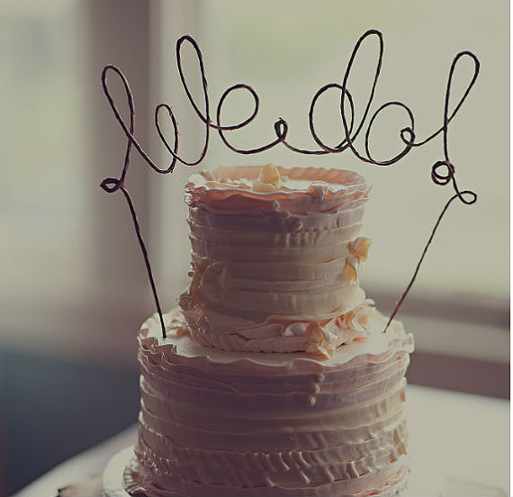 Rustic WE DO Cake Topper Banner - Rustic Wedding Cake Topper ...
