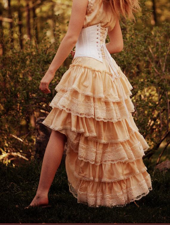 Antique inspired bohemian wedding dress silk slip dress for Antique inspired wedding dresses