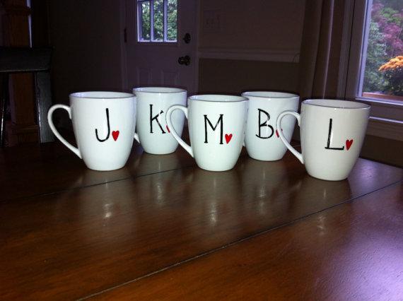 Bridesmaids Personalized Initial Coffee Mug 2220658 Weddbook