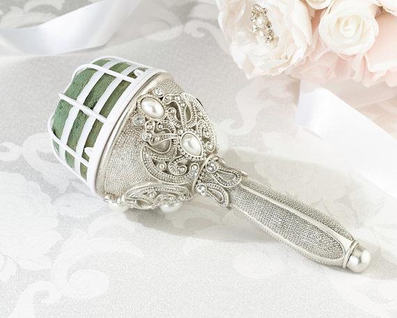 Свадьба - Jewelled Bouquet Holder, Wedding Flowers, FREE POSTAGE Australia Wide