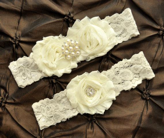 زفاف - Wedding Garter Set, Bridal Garter Set - Ivory Lace Garter, Keepsake Garter Toss Garter, Ivory Wedding Garter, Ivory Wedding Garter Belt
