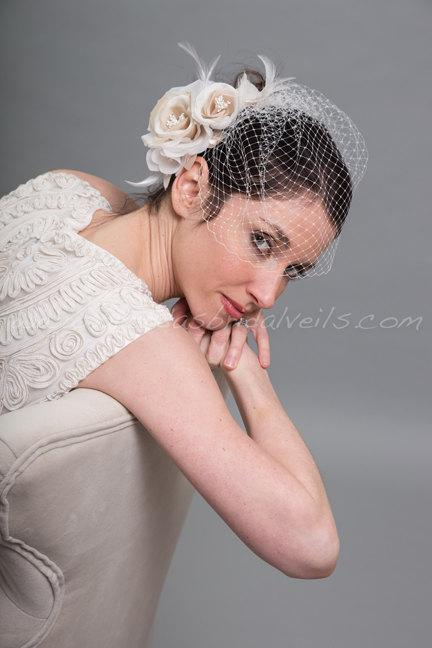 Birdcage Veil With Flower d3baf6bf637
