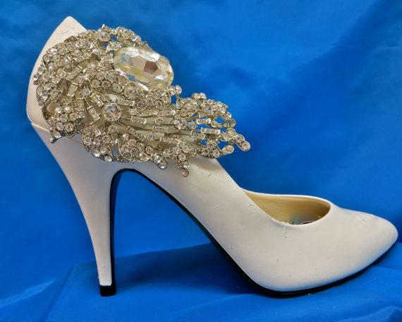 Mariage - Rhinestone Shoe Clips -  Bridal Shoe Accessory