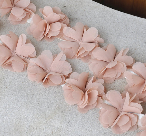 Mariage - nude rosette lace trim for baby handband, wedding bouquet, bridal hair flowers