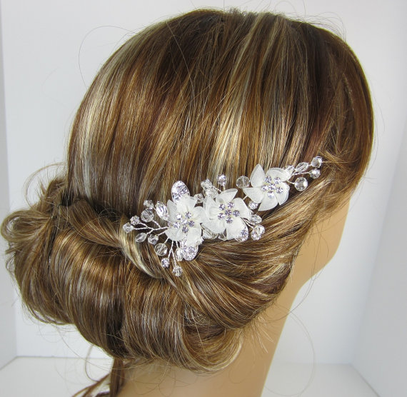 Wedding - Flower Bridal Comb, EMILY HAIR COMB, Bridal hair comb, Wedding hair accessories, Bridal Headpieces,