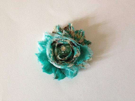 Свадьба - DOG FLOWER COLLAR -  Wedding, pet flower, dog bow , fancy pet fashion, photo prop, slip on collar, Teal blue flower