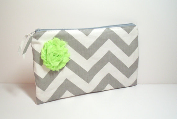 Wedding Clutch Bag - Lime Green - Flower Clutch - Bridal Clutch ...