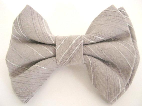 زفاف - Dog bow tie Gray bow tie for dog Collar bow tie Pet bowtie Wedding dog bow tie Large dog bow tie Dog collar bow tie