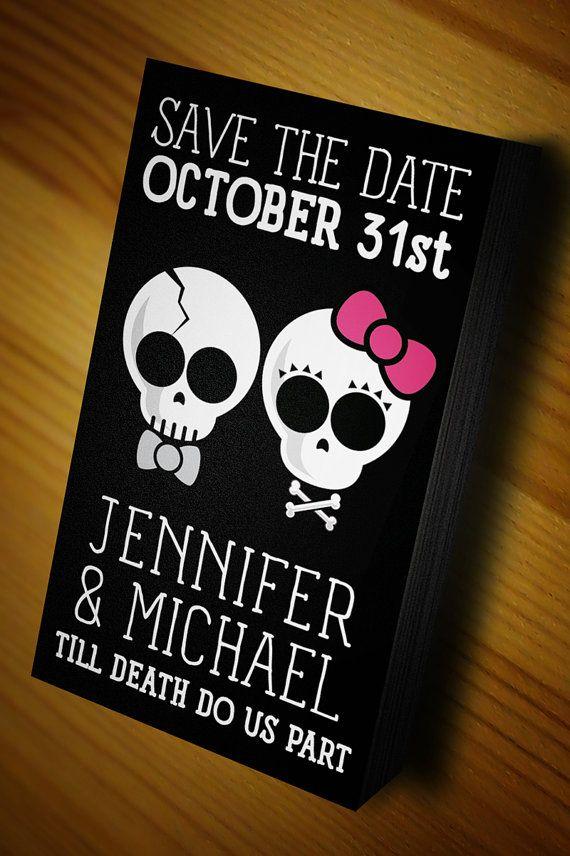 Halloween Wedding Goth Wedding Save The Date Magnet New