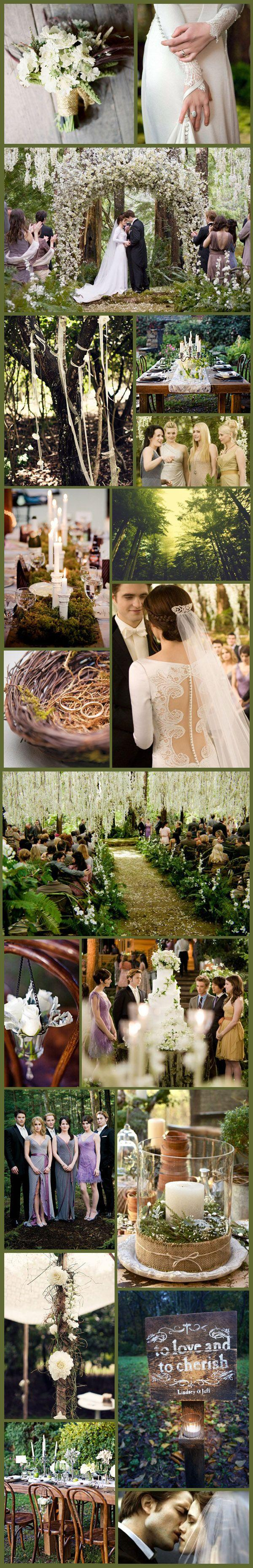 Hochzeit - Wednesday Wedding Inspiration: Twilight Time - New