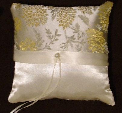 زفاف - ring bearer pillow custom made elegant ivory