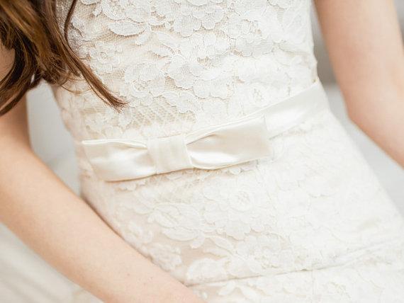 Mariage - Bow Bridal Sash