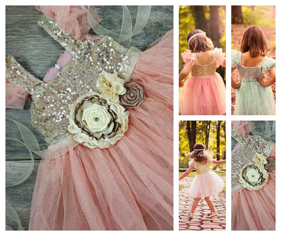 Hochzeit - Girls Gorgeous Tulle And Sparkle Dress With Attached Sash // Flower Girl Dress // Toddler Girl Dress // Girls Party Dress // Holiday Dress