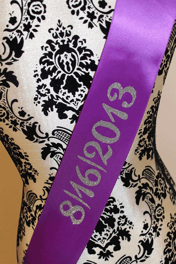 Mariage - back print upgrade for your sash