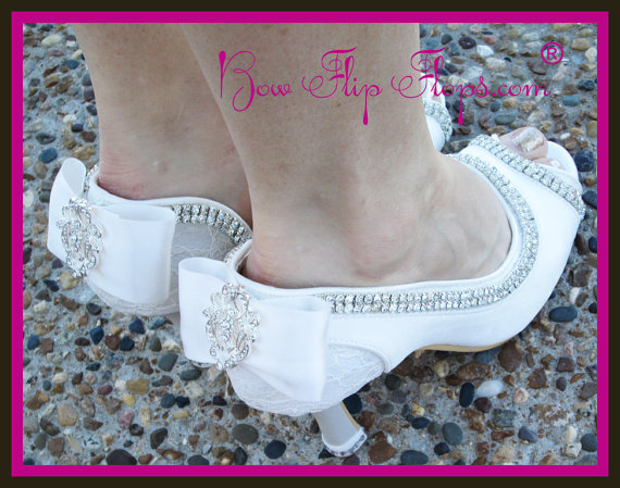 7b9f086bbb4 Ivory Wedding Heels Bridal Shoes 3.5 inch Peep Toe Satin Vintage Lace Bow  Rhinestone Bling Custom Pumps I DO Design your colors Bride Gift