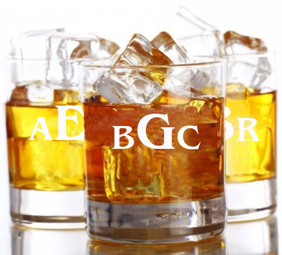 Wedding - 2 Whiskey Glasses, Rocks Glass, Engraved Glasses, Custom Whiskey Glass, Whiskey Groomsmen Gift, Personalized Glasses, Monogram Whiskey Glass