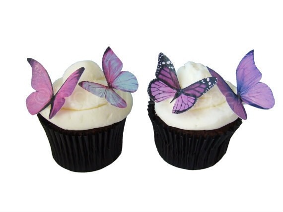 Butterfly Edible Cake Images : Wedding Cake Topper - Edible Butterflies In 24 Prettiest ...
