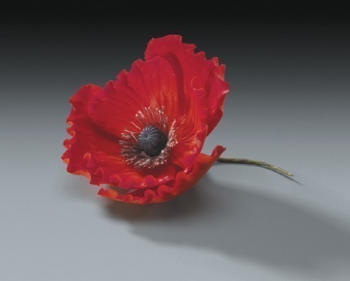 Свадьба - Red Gum Paste Poppy Flowers 10ct for Weddings and Cake Decorating - Free Insured Shipping Within USA!!