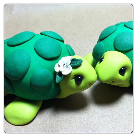 Wedding Cakes - Turtle Wedding Cake Topper Handmade #2221774 - Weddbook