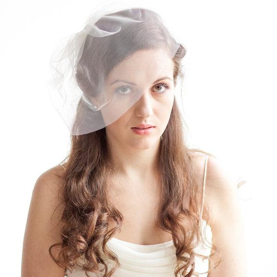 Свадьба - Mini Tulle Veil - Bridal Tulle Birdcage Veil - Blusher Veil Mini -  Wedding Accessories