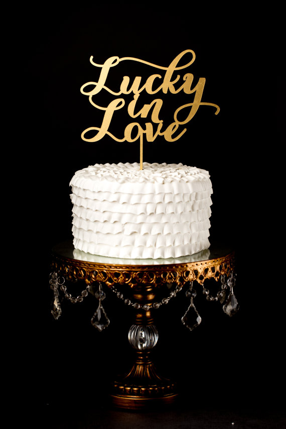 Свадьба - Wedding Cake Topper - Lucky in Love