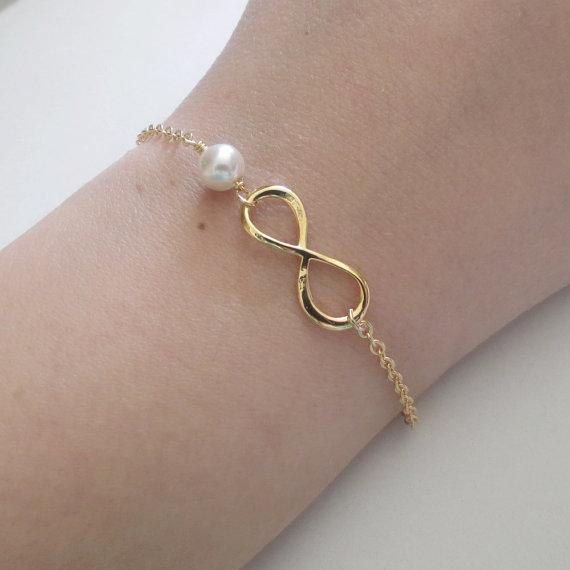 Black Friday SALE Personalized Infinity Bracelet Wedding Bracelet