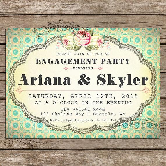 Engagement Party Invitations Printable Diy Digital File Fancy