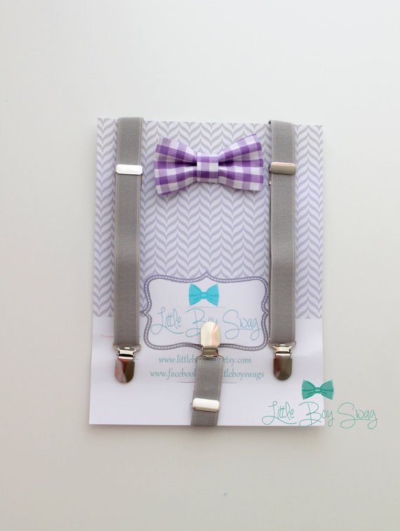 Mariage - Baby bow bow tie and suspenders..Boys bow tie..1st birthday boy,,Ring bearer outfit..Kids Clothing..Toddler suspenders..Black Tie..Bowtie