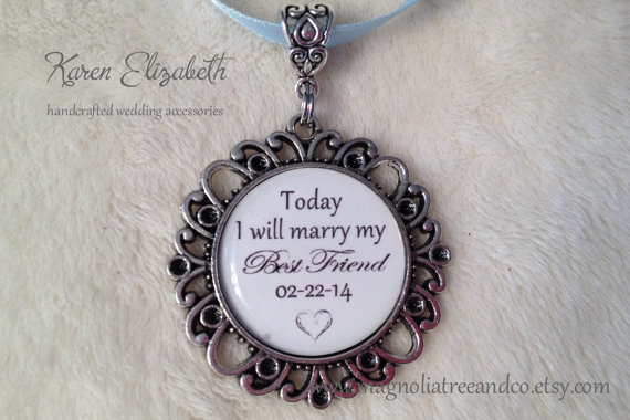 wedding bouquet charm bridal charm in memory charm memorial pendant