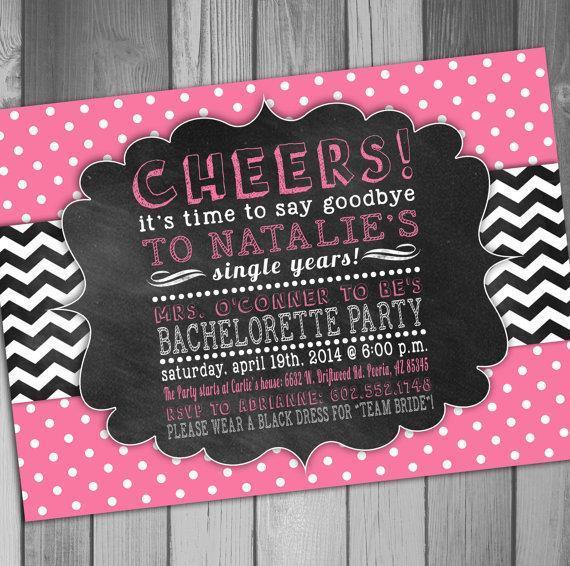 bachelorette party invitation team bride printable bachelorette, Party invitations