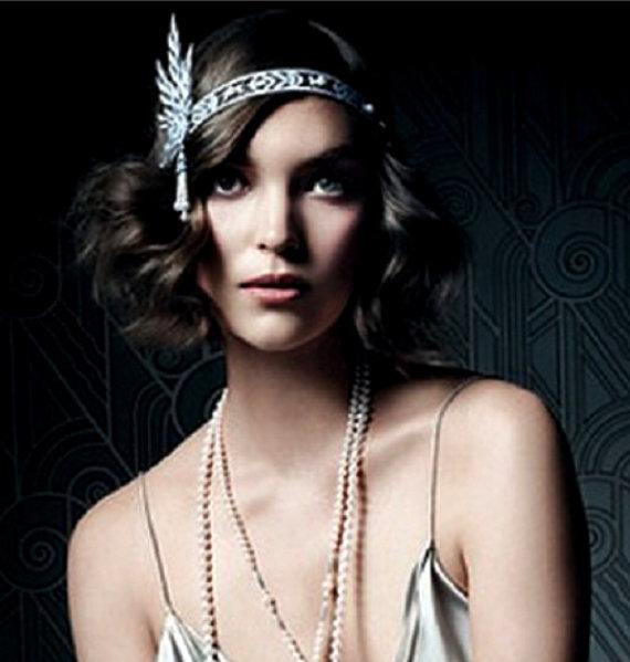 Hochzeit - The Great Gatsby Headpiece -  Downtown Abbey 1920's Headband