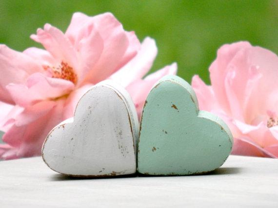 Wedding - Mint pink wedding ring pillow bearer boxes wooden small/tiny box wedding ring box