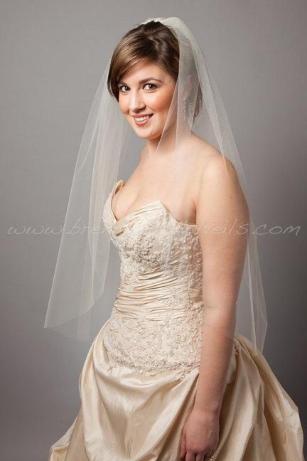 Mariage - Illusion Tulle Bridal Veil Single Layer Available in 30 thru 54 Inch Lengths