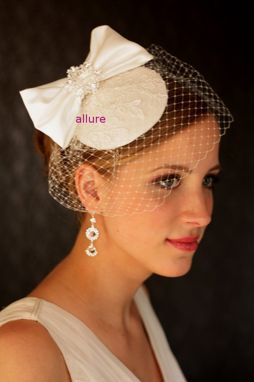 BIRDCAGE VEIL Wedding Hat Bridal Headpiece