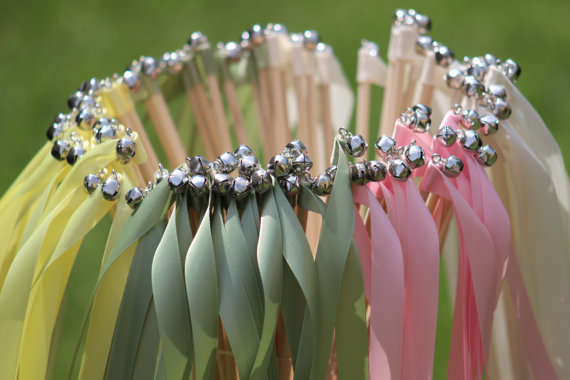 200 Wedding Ribbon Wands With Bells
