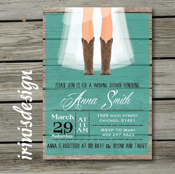 Rustic Bridal Shower Hoedown Wedding Invitation #2222459 ...