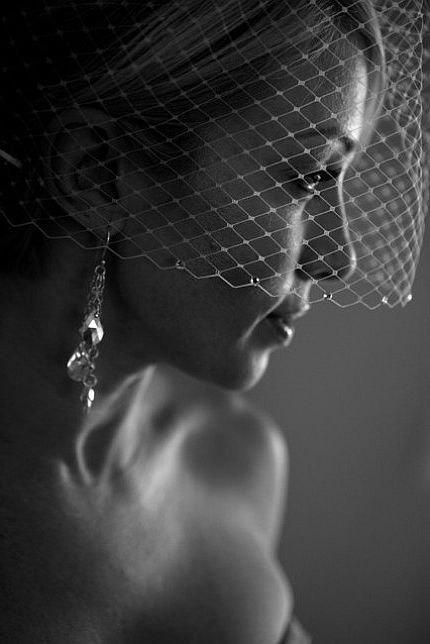 Mariage - Bridal Wedding Veil, Birdcage Veil with Swarovski Crystals, Vintage Style Bridal Hair Accessory, VELIANA CRYSTAL