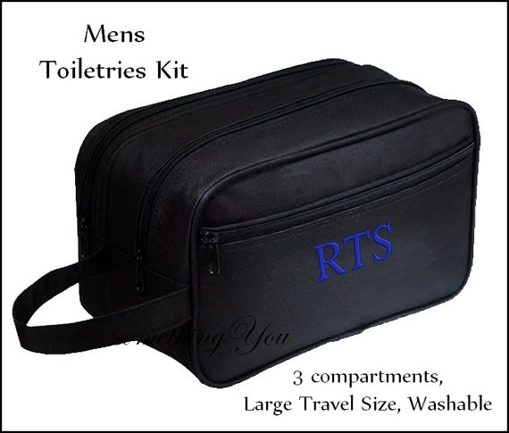 d24857f9b83e Personalized Mens Shave Kit - Monogrammed Mens Travel Bag ...