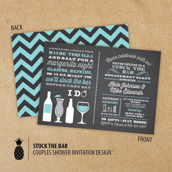 stock the bar couples engagement party invitations #2222616 - weddbook, Party invitations