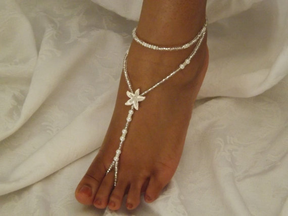 Pearl Foot Jewelry Wedding Starfish Barefoot Sandal Anklet 2222641