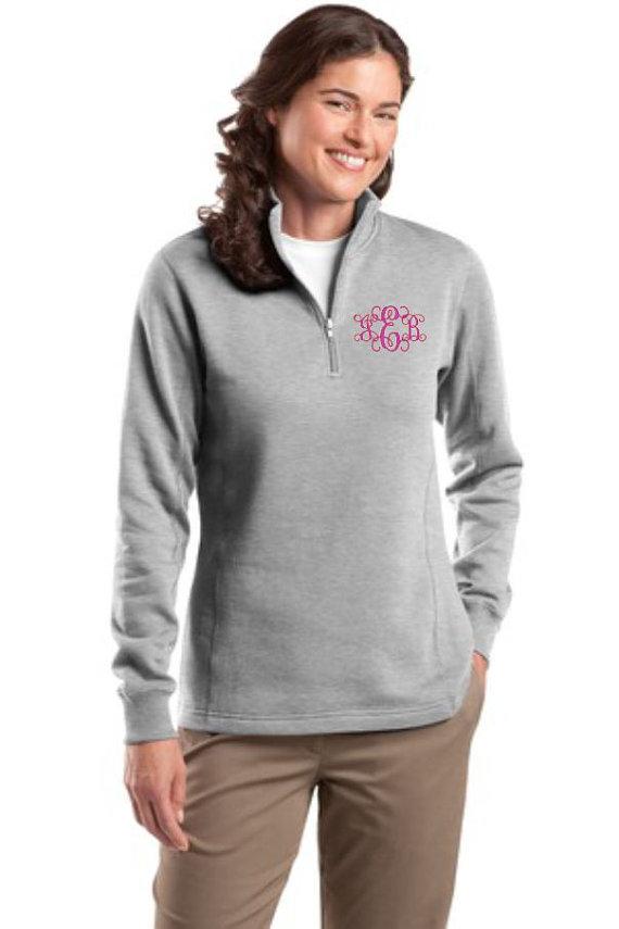 Monogram Sweatshirt, Zip Sweatshirt, Personalized, Preppy ...